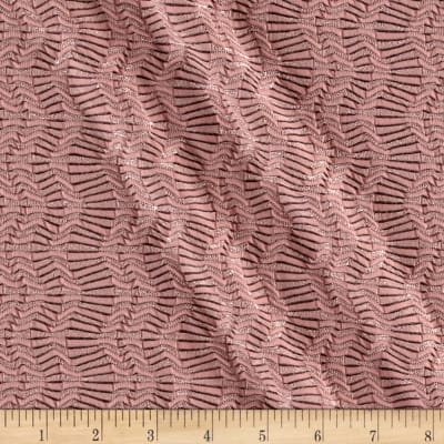 Wave Stripe Jacquard Knit Rose Quartz Black