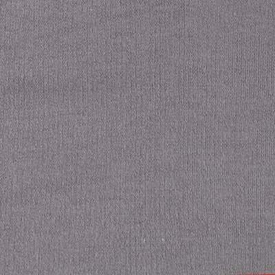 French Terry Knit Solid Steel
