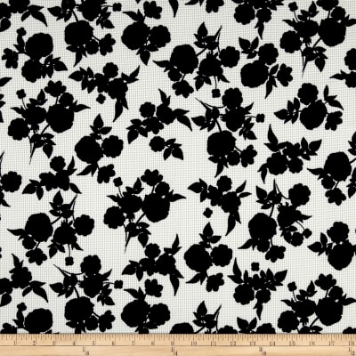 Shadow Floral Pique Knit Print Black/Ivory