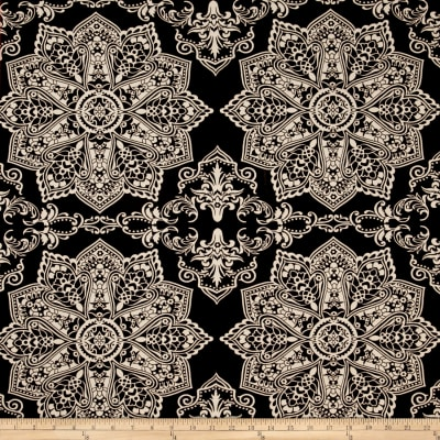 Mosaic Flower Stretch ITY Chocolate/Ivory