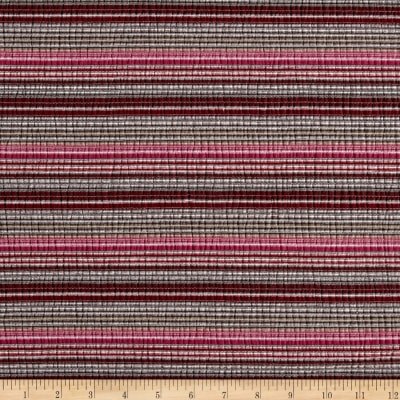 Lightweight Jersey Knit Stripe Brown/Red/Pink