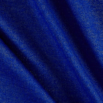 Silver Metallic Jersey Knit Royal Blue
