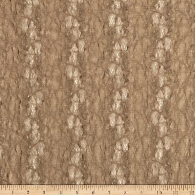 Novelty Stretch Lace Floral Tan