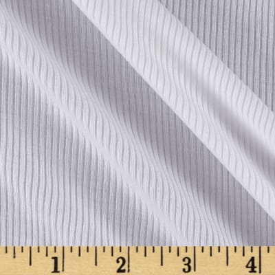 Viscose 2X1 Rib Knit Pure White