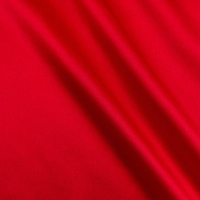 100% Silk Charmeuse  Red