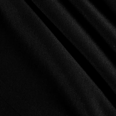 French Terry Knit Solid Black