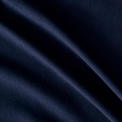 French Terry Knit Solid Navy