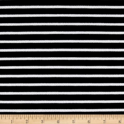 Liverpool Double Knit Print Stripes Black/White