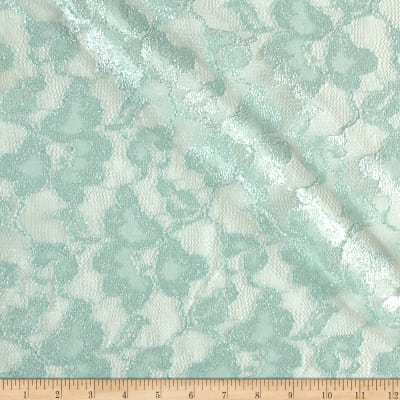 Foil Lace Flowers Mint