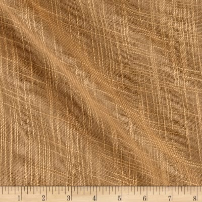 "110"" Faux Linen Sheer Gold"