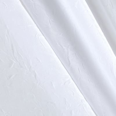 "108"" Crushed Sheer Voile White"