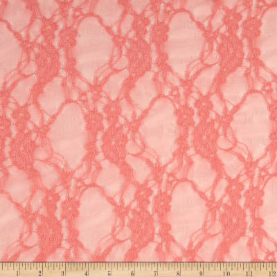 Giselle Stretch Floral Lace Coral
