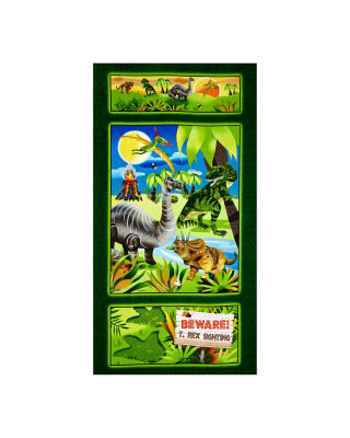 Dino-Might Main 24 In. Panel Green
