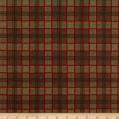 Moda Endangered Sanctuary Flannel Plaid Walnut