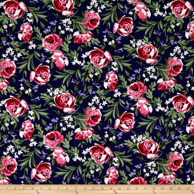 Michael Miller Bed of Roses Bed of Roses Sapphire