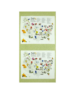 Moda State Flowerscape State Flower Map Panel Sprig