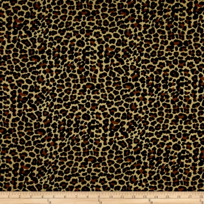 Rayon Challis Animal Prints Black/Ivory
