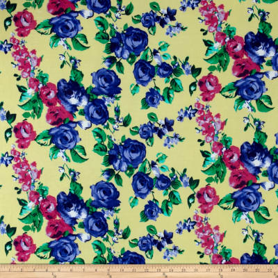 Floral ITY Knit Yellow/Blue/Green