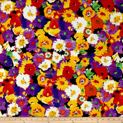 Floral ITY Knit Yellow/Purple/Ivory/Black