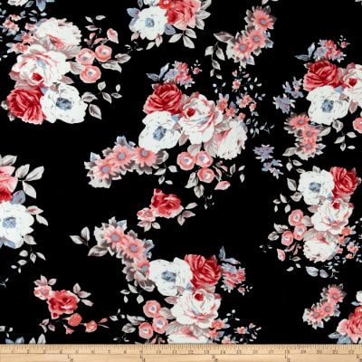 Floral ITY Knit Black/Pink/Ivory