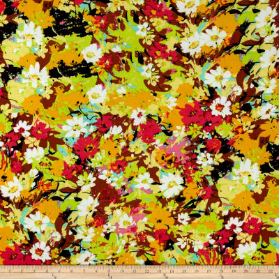 Floral ITY Knit Mustard/Pink/Yellow