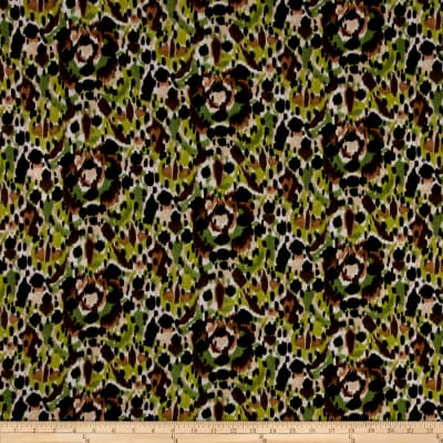 Soft Rayon Jersey Knit Animal Skin Green/Black