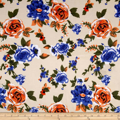 Ponte De Roma Floral Prints Peach/Purple
