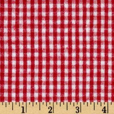 Flannel Gingham Check Red/White