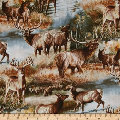 Elks & Deer In Autumn Multi