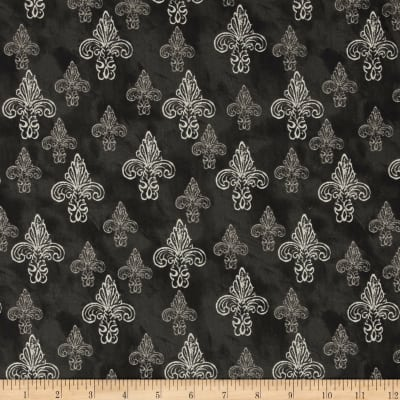 French Couture Fleur De Lis Black