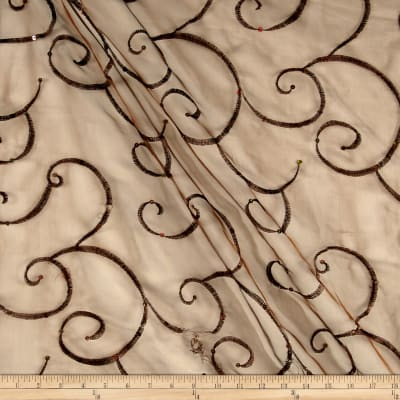 Ferial Organza Embroidery Brown