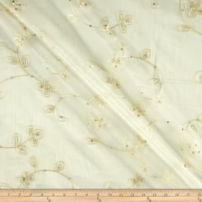 Dahlia Organza Embroidery Ivory