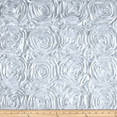 Wedding Rosette Satin White