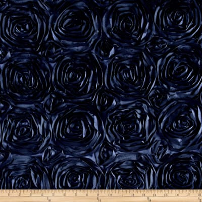 Wedding Rosette Satin Navy