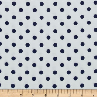 Happy Dots Flannel White/Navy Skies
