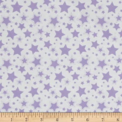 Starry Night Flannel White/Lavender Lily