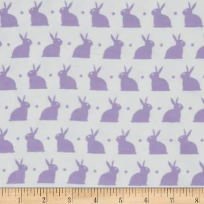 Bedtime Bunny Flannel White/Lavender Lily