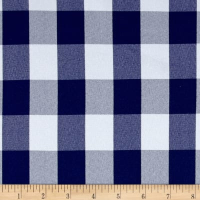 Picnic Gingham Yarn-Dyed Royal/White