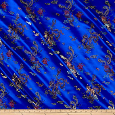 Chinese Brocade Sateen Dragon Royal