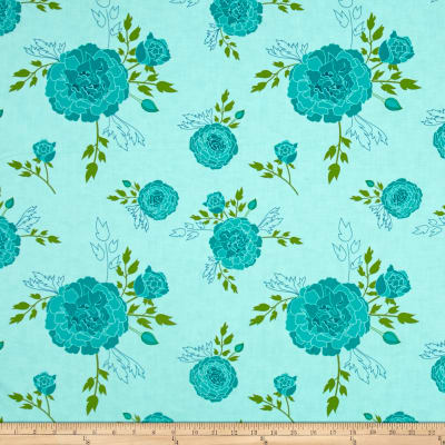 Moda Acreage Scroll Aqua Sky