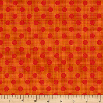 Moda Wing & Leaf Dotty Screen Persimmon