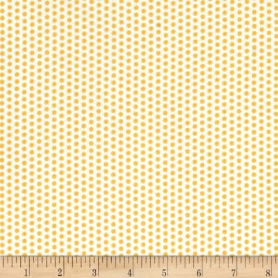 Moda Sundrops Dotted White/Yellow