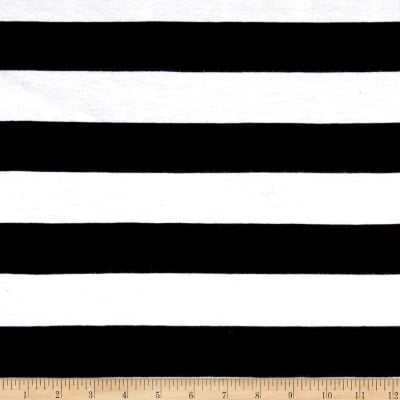 Jersey Knit Stripe Black/Ivory
