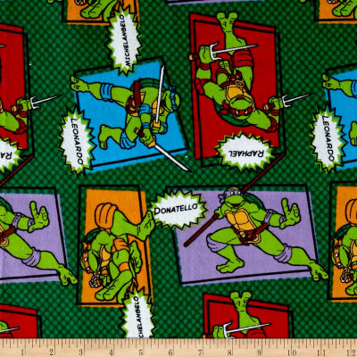 Nickelodeon TMNT Turtle Patch Flannel Green