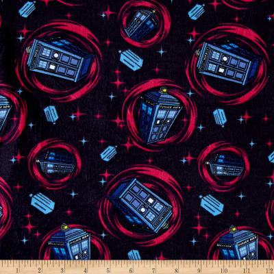 BBC Doctor Who Phone Booth Flannel Blue