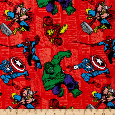Marvel Retro Comics Flannel Red
