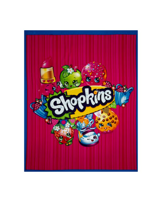 "Moose Shopkins 36"" Panel Aqua Blue"