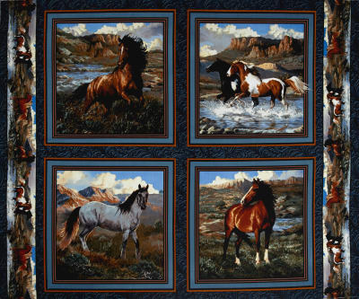 "Wild Wings Rhapsody West Pillow 36"" Panel Multi"