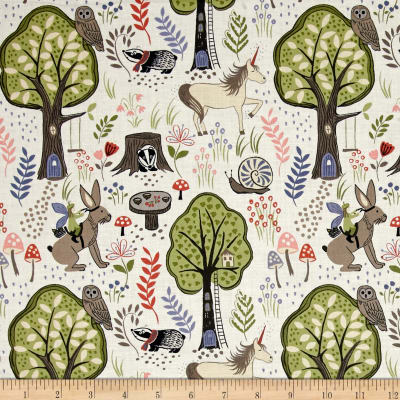 Enchanted Forest Scenic Beige
