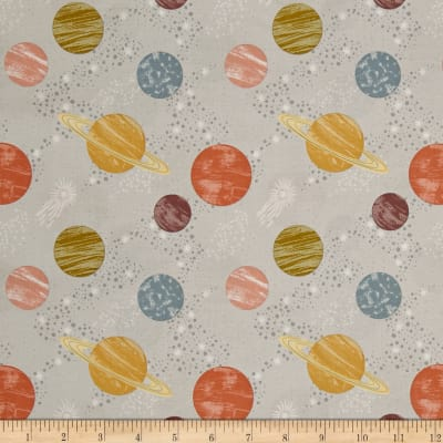 To The Moon & Back Planets Light Grey